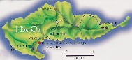 Click here for a larger map of Hiva Oa (map courtesy of Tahiti Tourisme)