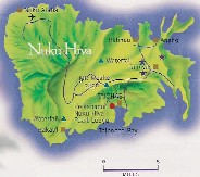 Click here for a larger map of Nuku Hiva (map courtesy of Tahiti Tourisme)