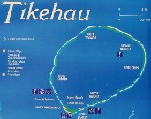 Click here for a larger map of Tikehau (map courtesy of Tahiti Tourisme)